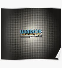 Windsor, Newfoundland   Retro Stripes Poster