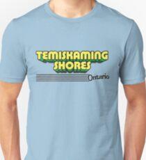 Temiskaming Shores, Ontario | Retro Stripes Unisex T-Shirt