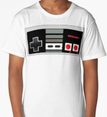 Classic old vintage Retro game controller Long T-Shirt