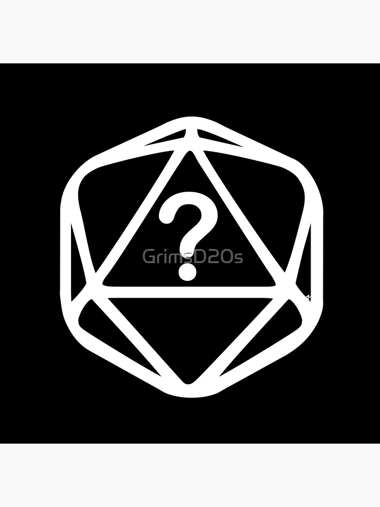 D20 Mystery White Lines Dice Single by GrimsD20s