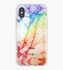 Broken Damaged Cracked out back White iphone Photograph iPhone Case