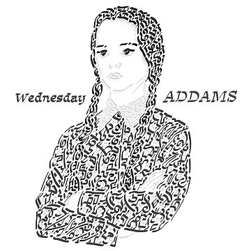 Wednesday in The Addams Family  by Karotene