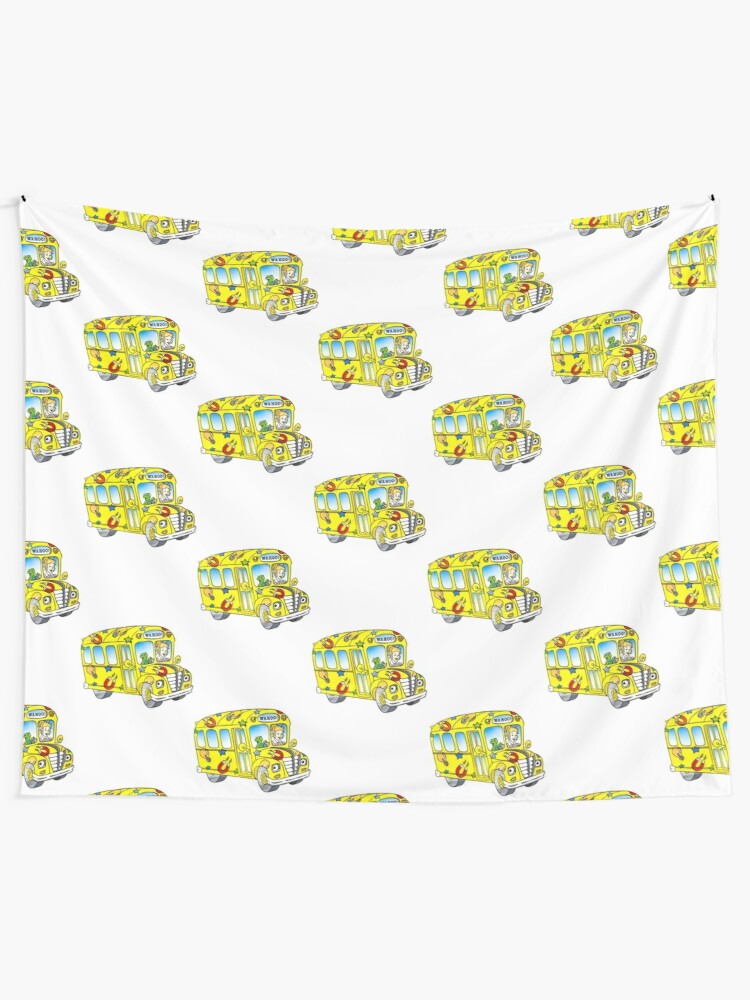 The Magic School Bus Wall Tapestry By Ghjura Redbubble