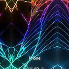 «Broken Damaged Cracked Out black iphone Fotografía» de Galih Sanjaya Kusuma wiwaha