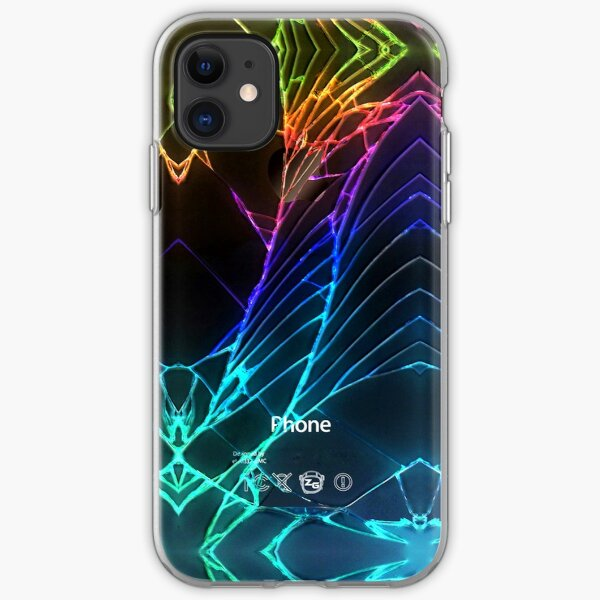 Broken Damaged Cracked out back Black iphone Photograph iPhone Soft Case