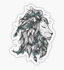 Poetic Lion Turquoise Sticker