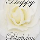 Birthday Flower in White by martinspixs