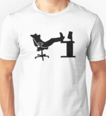 Lazy relaxing office worker Unisex T-Shirt