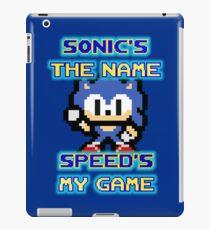 Sonic - Speed's my Game iPad Case/Skin