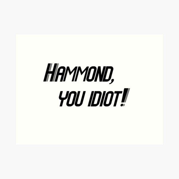 Hammond, you idiot! Art Print