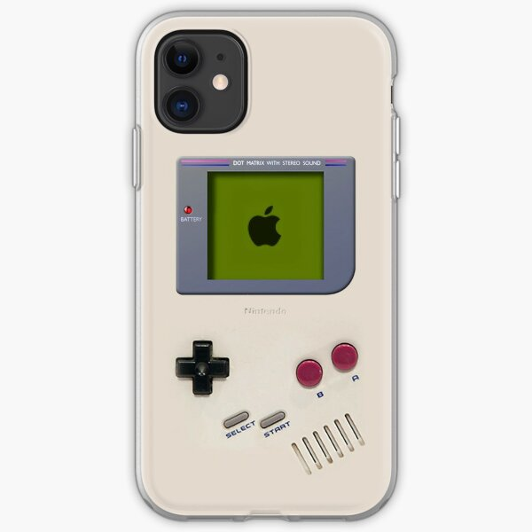 Classic old vintage Retro white milk gameboy gamewatch iPhone Soft Case