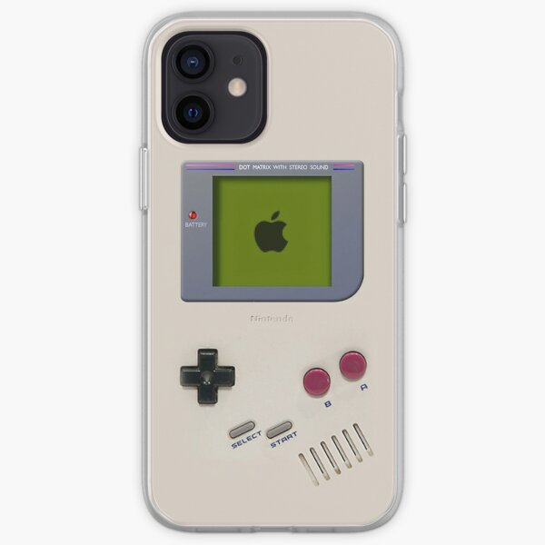 Clásico antiguo vintage Retro leche blanca gameboy gamewatch Funda blanda para iPhone
