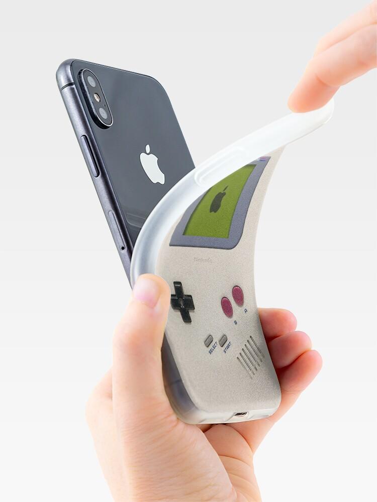 Vista alternativa de Vinilos y fundas para iPhone Clásico viejo vintage Retro blanco leche gameboy gameboy