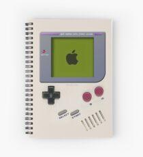 Classic old vintage Retro white milk gameboy gamewatch Spiral Notebook