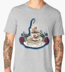 Vintage Rose Pattern Tea Cup Men's Premium T-Shirt