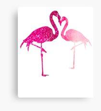 Flamingos Lovers T Shirt Valentine's Day Canvas Print