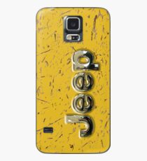 muddy yellow Jeep with chrome typograph Case/Skin for Samsung Galaxy