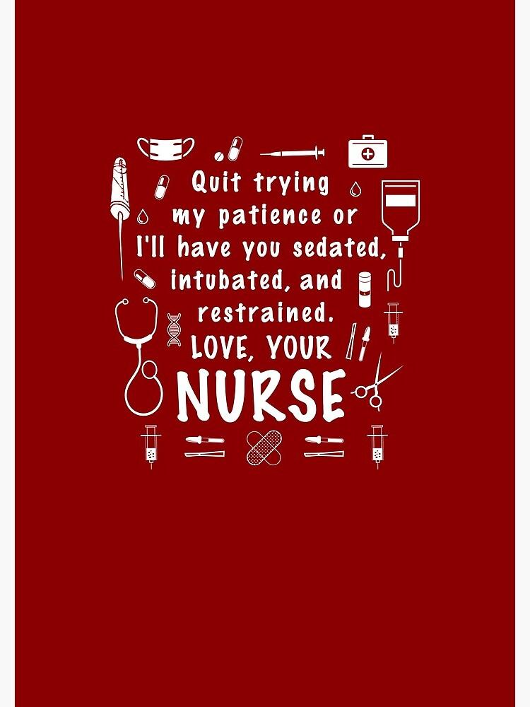 Love Your Nurse! - practitioner appreciation registered graduation medical  students preceptor printable nursing student | Spiral Notebook