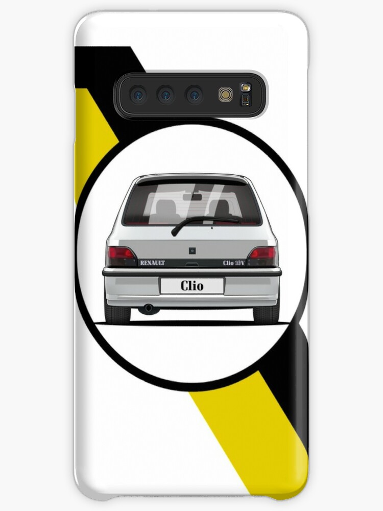 Renault Clio 16v Flag Only Rear Cases Skins For Samsung Galaxy