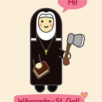 Hermit Friends: Wiborada of Saint Gall by venturevictrix