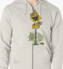 Australia Enter at your own Risk - Drop Bears Zipped Hoodie
