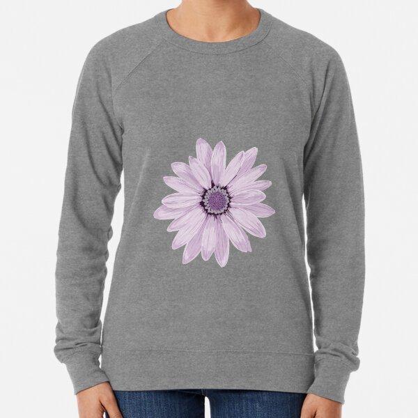 Purple Daisy Lightweight Sweatshirt