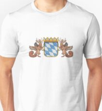 Two Wolpertingers holding the Bavarian coat of arms Unisex T-Shirt