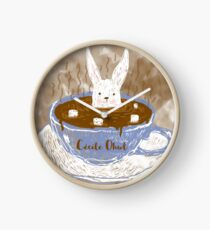 Rabbit in a cup Clock