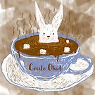 Rabbit in a cup by CecileOhwl