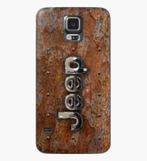 Rustic Jeep with chrome typograph Case/Skin for Samsung Galaxy