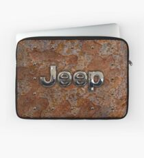 Rustic Jeep with chrome typograph Laptop Sleeve