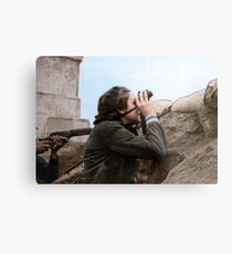 Republican woman commander during the Battle of Madrid, January 1937. Metal Print