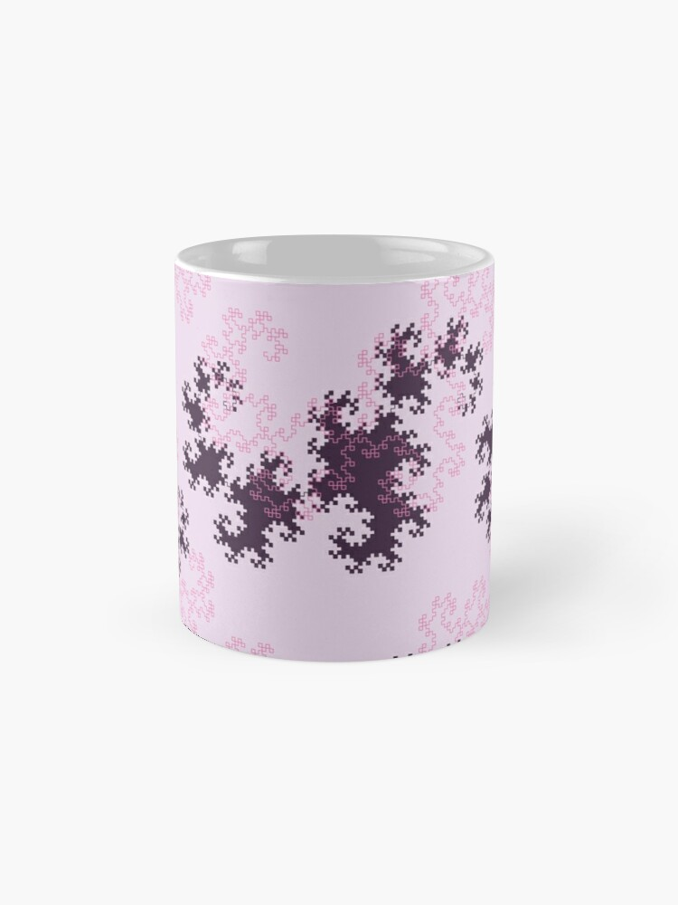 Alternate view of Pink and purple dragon curves Mug