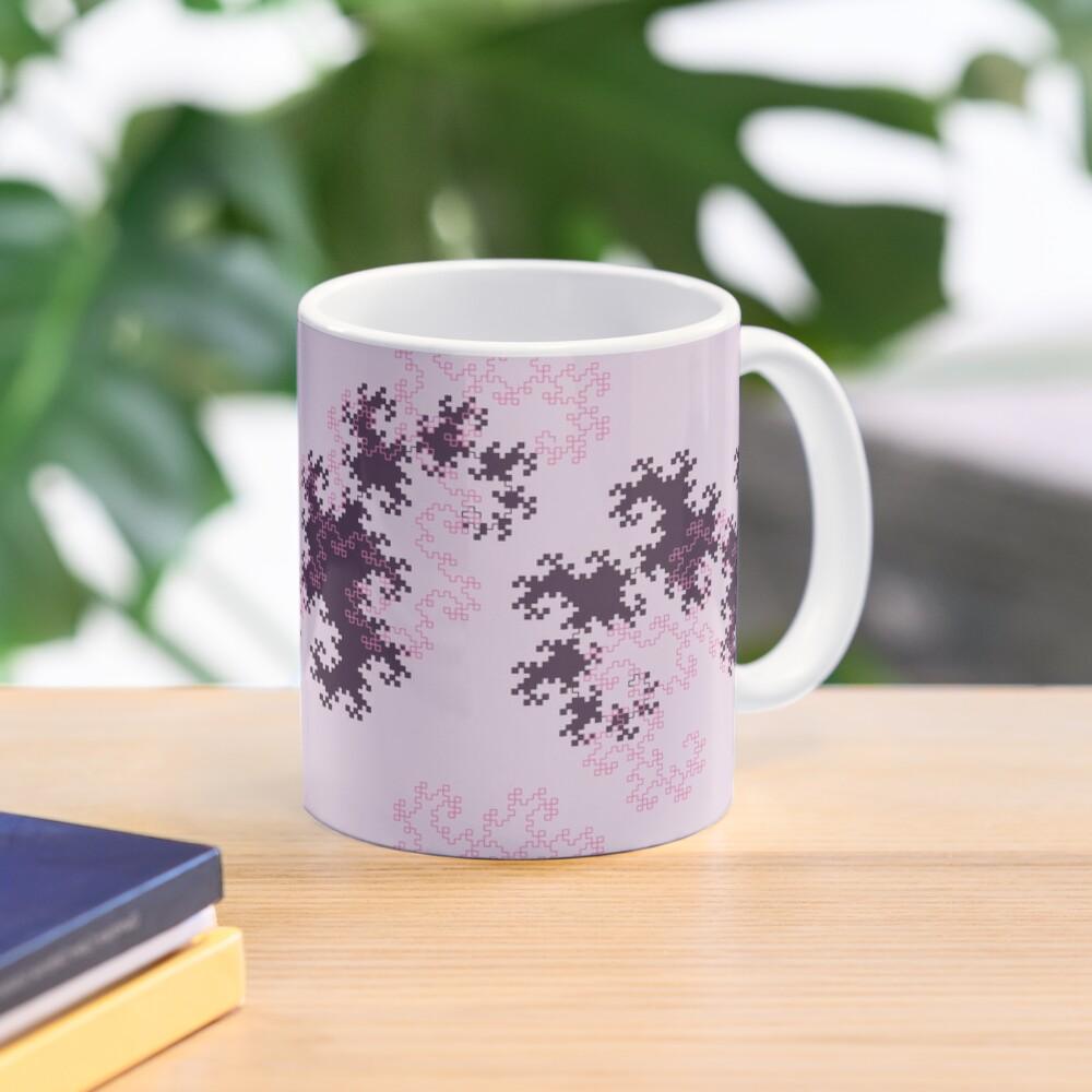 Pink and purple dragon curves Mug