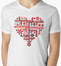 Heart For Valentine Day Men's V-Neck T-Shirt