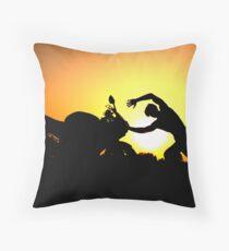 Fighting Desires Throw Pillow