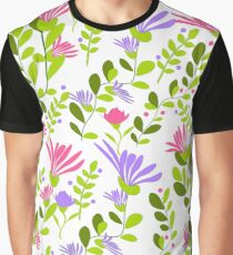 estanpado floral con fondo blanco Graphic T-Shirt