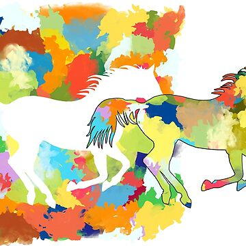 Horses Galloping Splash Power by DesignWorlds