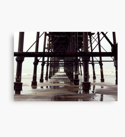 Under The Pier - Saltburn,North Yorkshire Canvas Print
