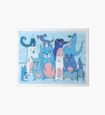 Cute animals Art Board Print