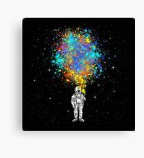 Space Splatter Celebration Canvas Print