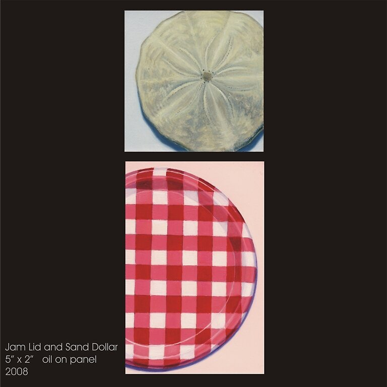 Jam Lid and Sand Dollar by Mary Hart