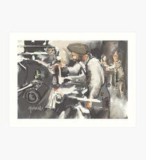 Factory worker Art Print