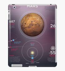 Mars infographic iPad Case/Skin