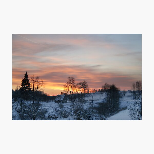 Evening in countryside Photographic Print