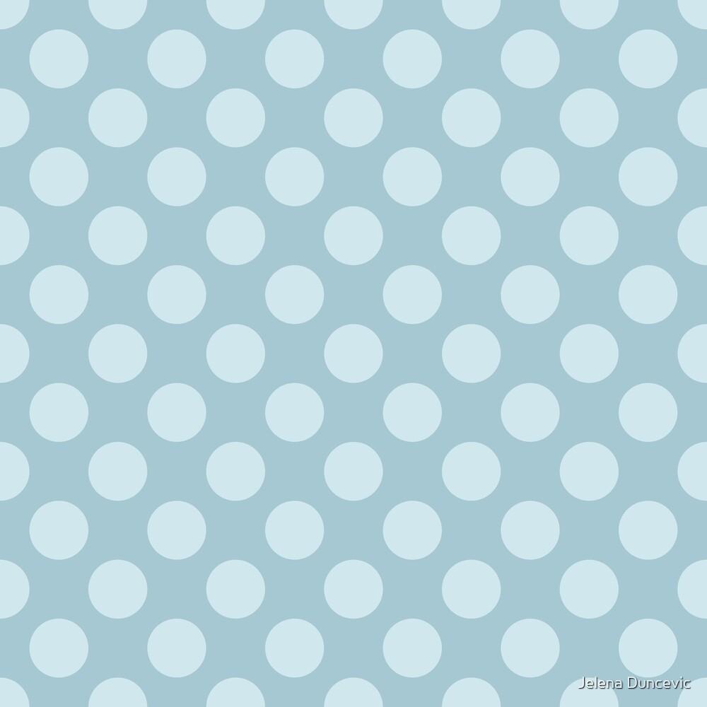 Polka Dots, Spots (Dotted Pattern) - Blue  by sitnica
