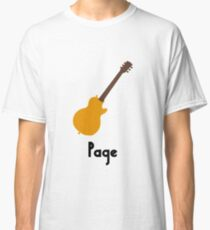 Jimmy Page Led Zeppelin Style Logo Classic T-Shirt