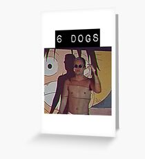 6 dogs Greeting Card