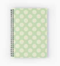 Polka Dots, Spots (Dotted Pattern) - Green  Spiral Notebook