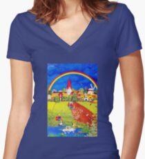 Farm Women's Fitted V-Neck T-Shirt